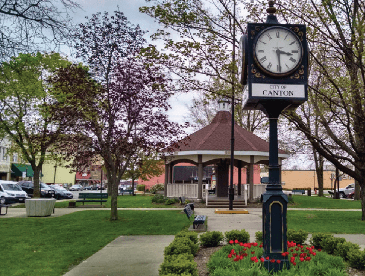 Downtown Canton Clock in the Park