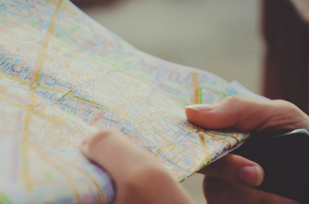 Somone holding a map