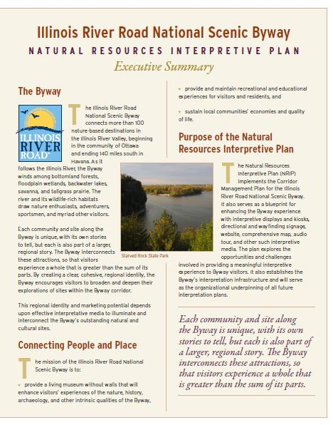 Interpretive Plan for Nature Executive Summary Article